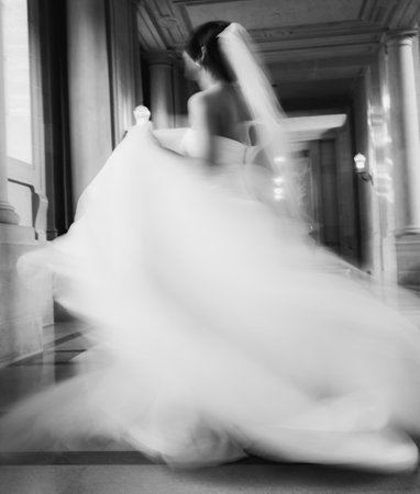 Full Lenght Portrait of SF City Hall Bride