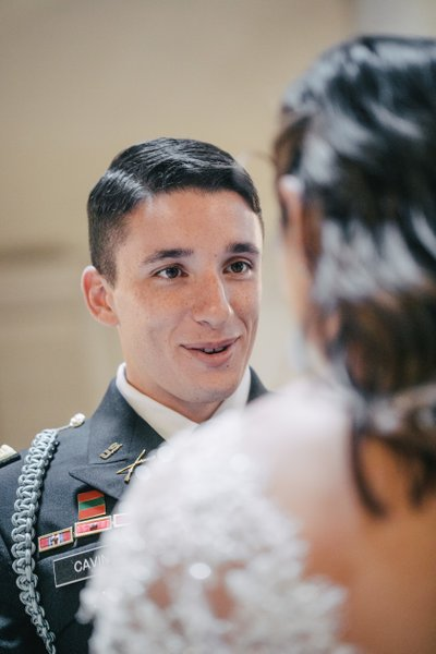 Groom in a Uniform at SF City Hall