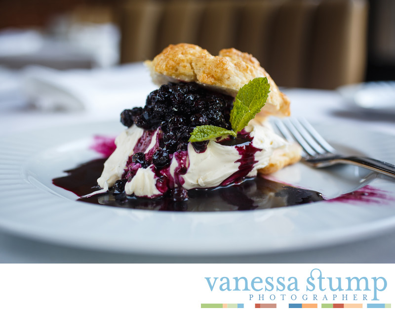 Mascarpone Mousse with Blueberry Compote