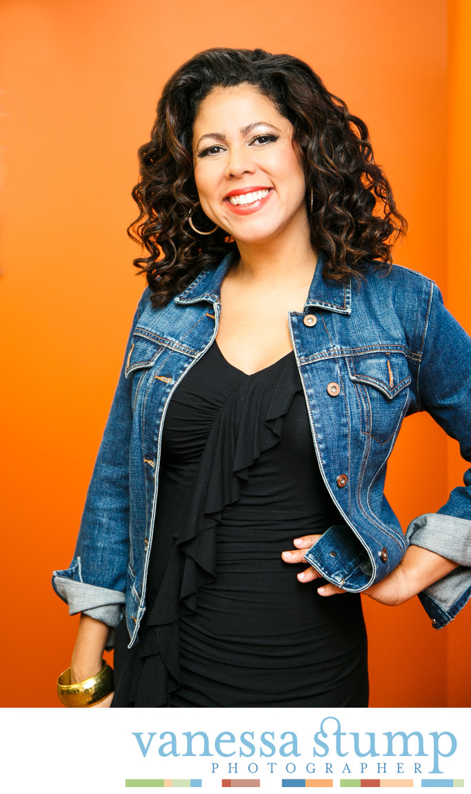 Portrait of Evette Rios host of Recipe Rehab