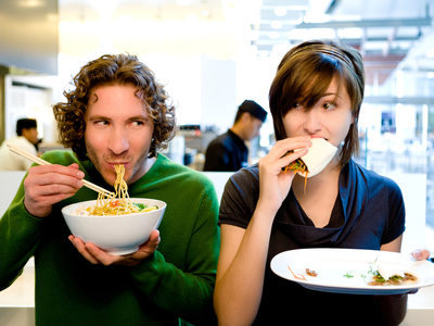 Couple enjoying Take A Bao