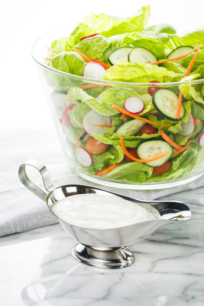 Green Salad with Ranch Dressing