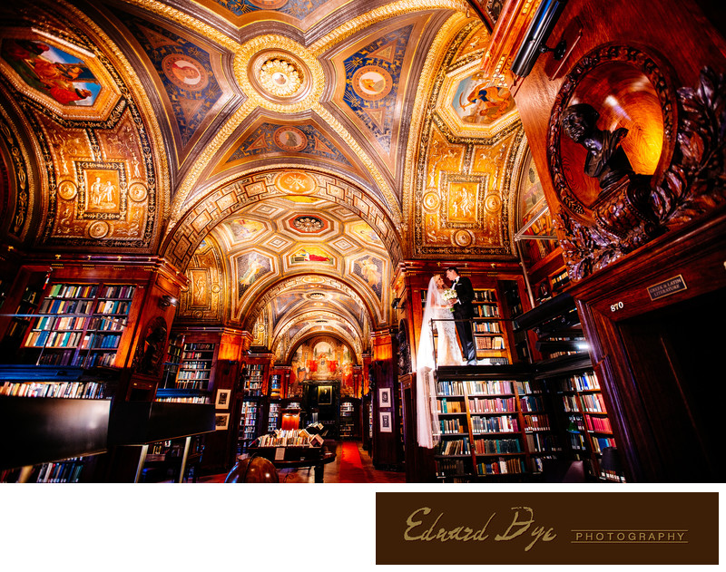 University Club Library Manhattan New York City Wedding