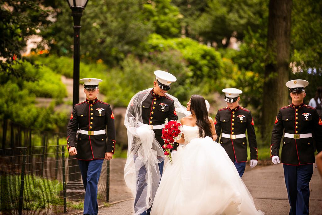Central Park New York City Y Military Wedding