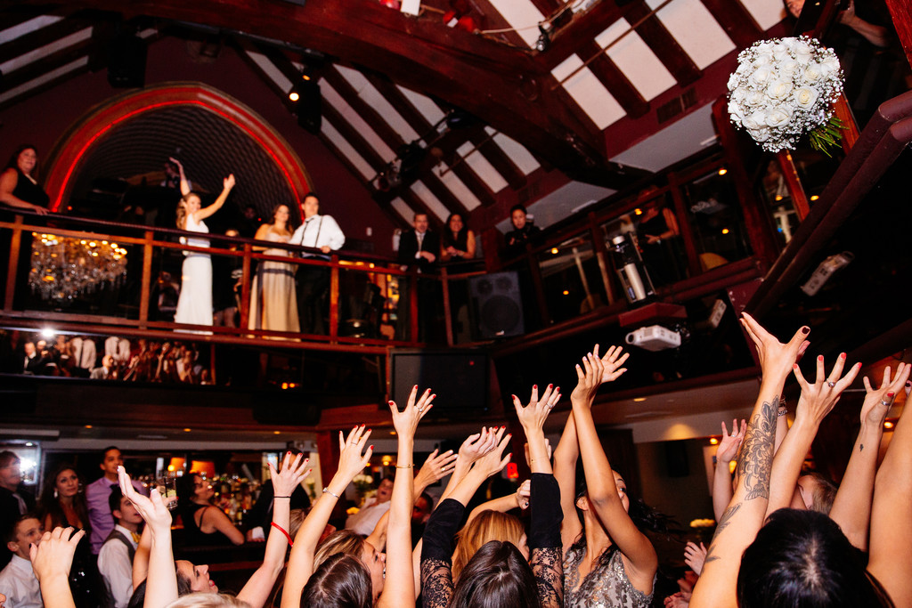 The Providence New York Wedding Bouquet Toss