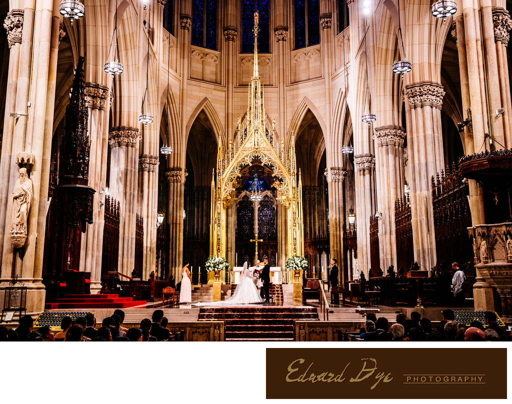 St. Patrick's Cathedral Manhattan New York City Wedding 1