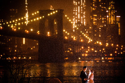 Brooklyn Bridge Park Brooklyn New York Wedding Photo