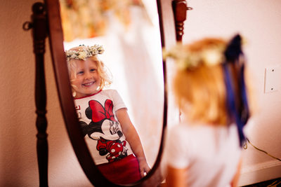 Long Island New York Wedding Kids Mirror