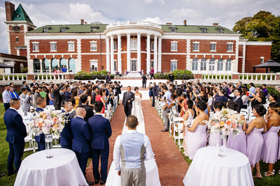 Bourne Mansion in Oakdale, Long Island Wedding ceremony