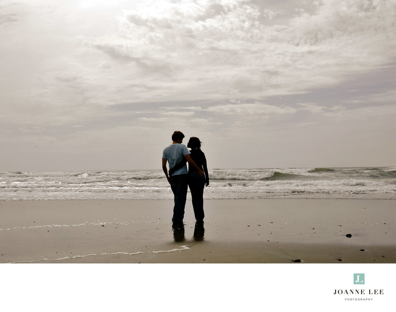 San Francisco Ocean Beach scenic engagement session