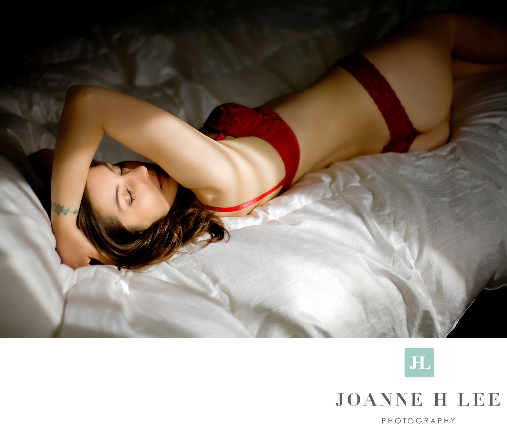 San Jose Natural light boudoir photograph