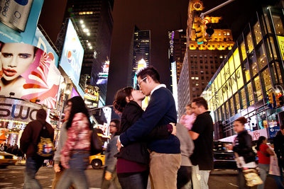 Times Square engagement session