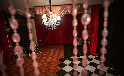 red room with different sets