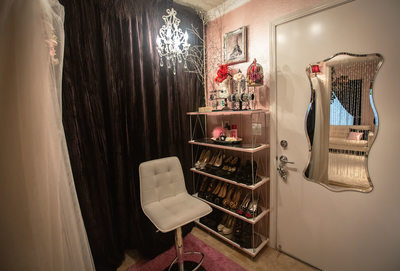 San Jose Boudoir photography makeup and dressing room