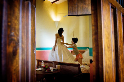 Destination Wedding Bride Preparation Picture