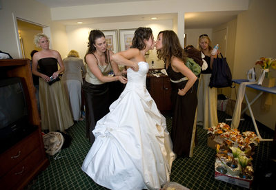Bridesmaids Bustle Wedding Dress