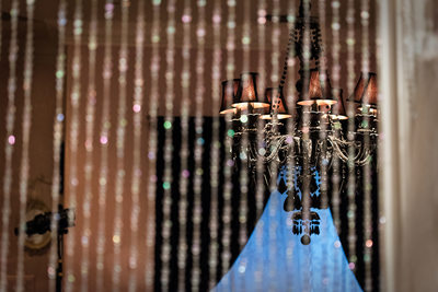 beads chandeliers everywhere at The French Boudoir