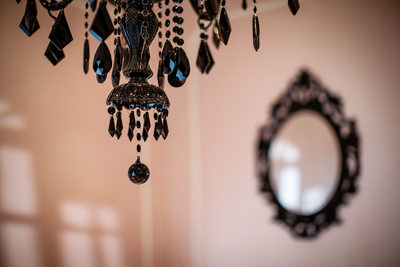 chandeliers everywhere at The French Boudoir studio