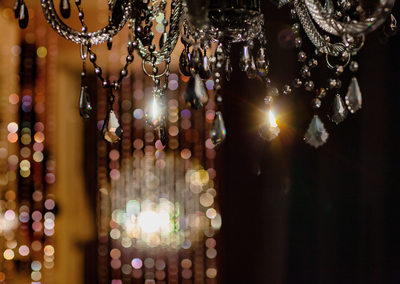 crystal chandelier at The French Boudoir® studio