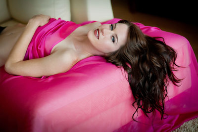 Colorful San Francisco boudoir photograph