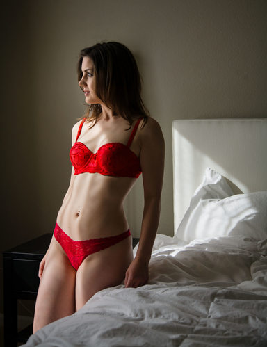 San Jose natural light boudoir photo
