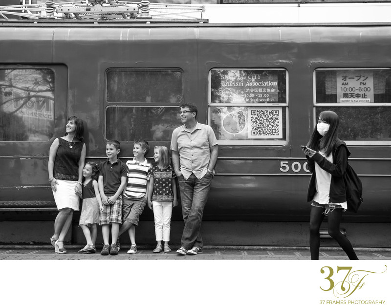 Black and white family destination photographers in Brisbane