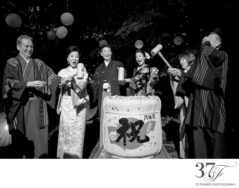 Kagami-Biraki Sake Barrel Ceremony
