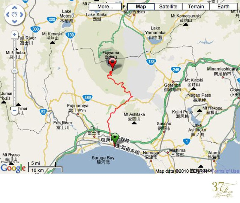 Mt Fuji Sea to Summit Map