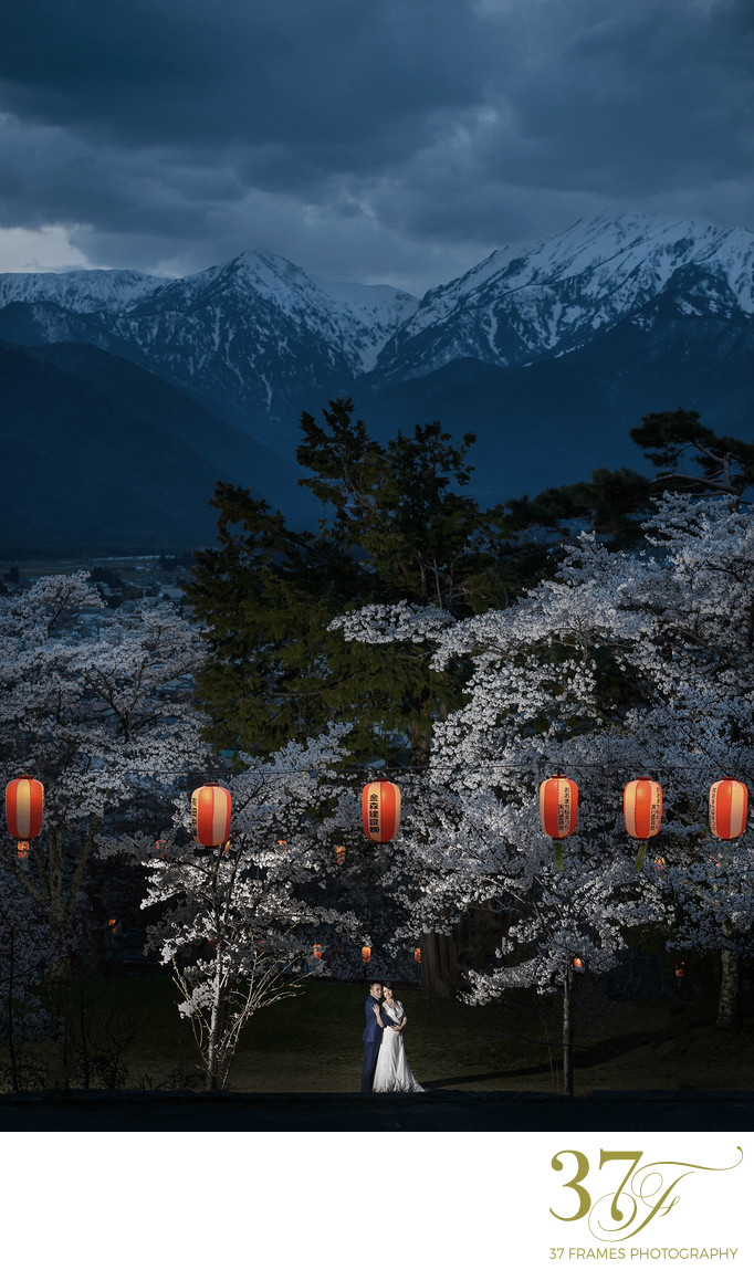 Nagano Cherry Blossom Pre-Wedding Japan