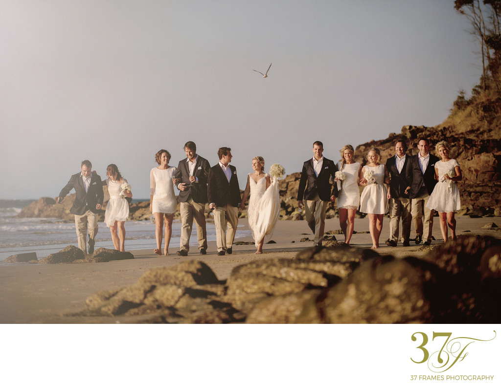 Bridal Party Photos on Little Cove Beach
