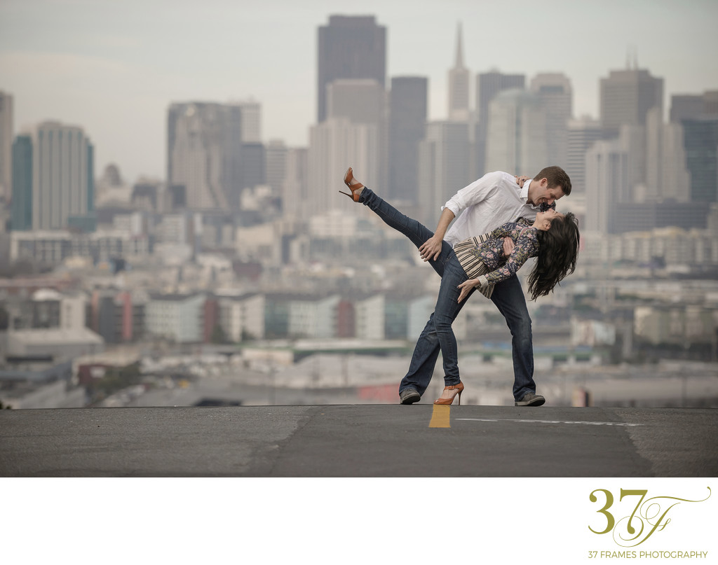 Fun Engagement Photos in the City