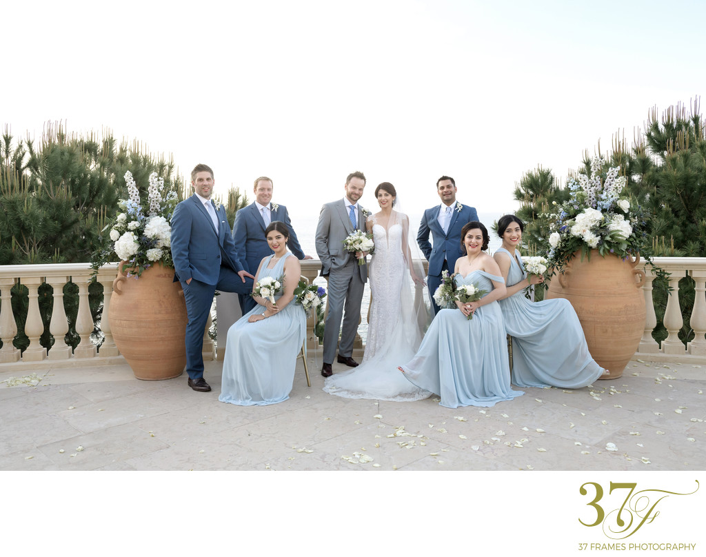 Destination Wedding Bridal Party Fun | Cyprus