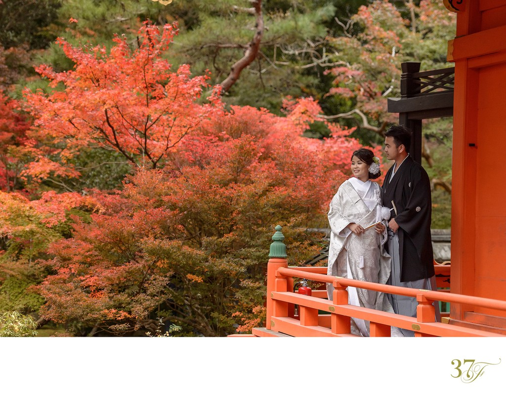 Elopement packages available for Kyoto