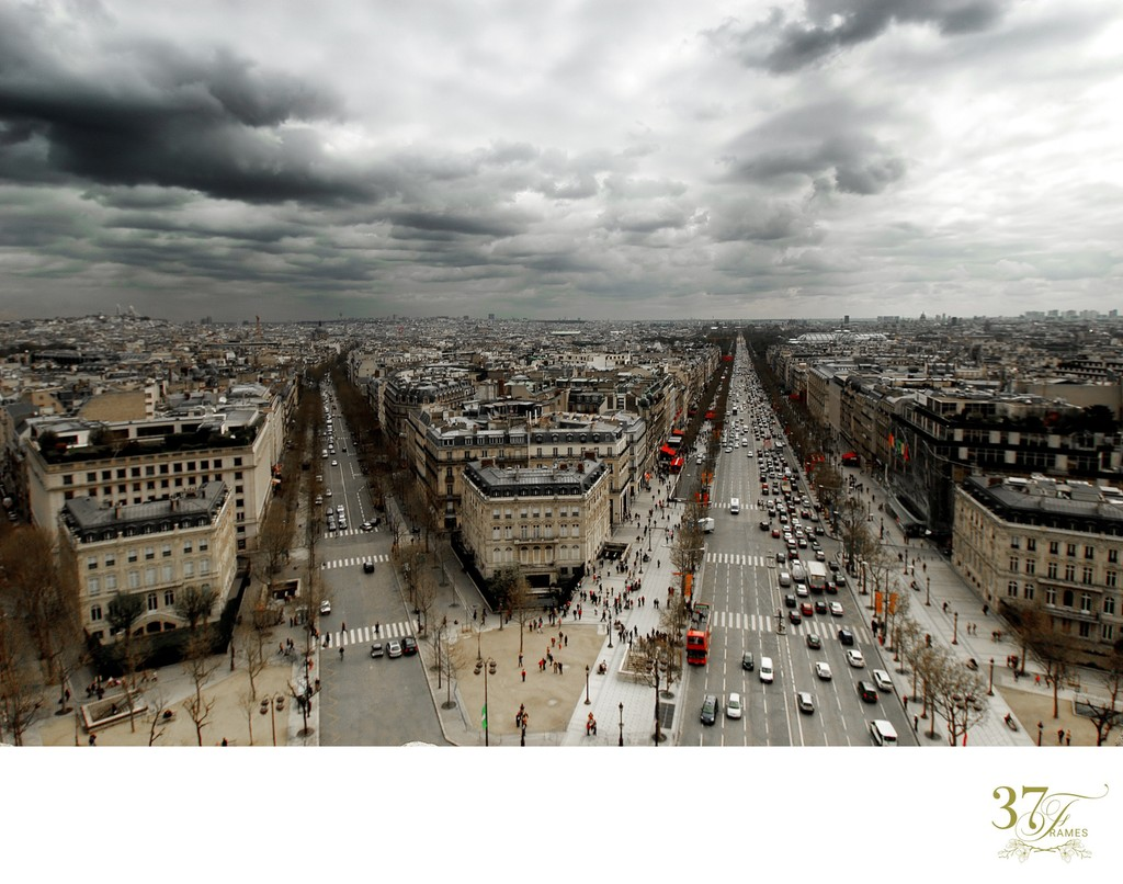 Paris from the Top of the Arc de Triomphe | France