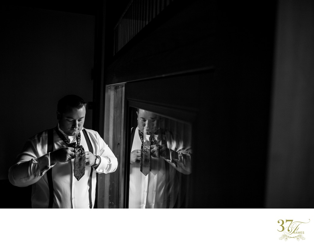 Groom Getting Ready for his Elopement in Japan