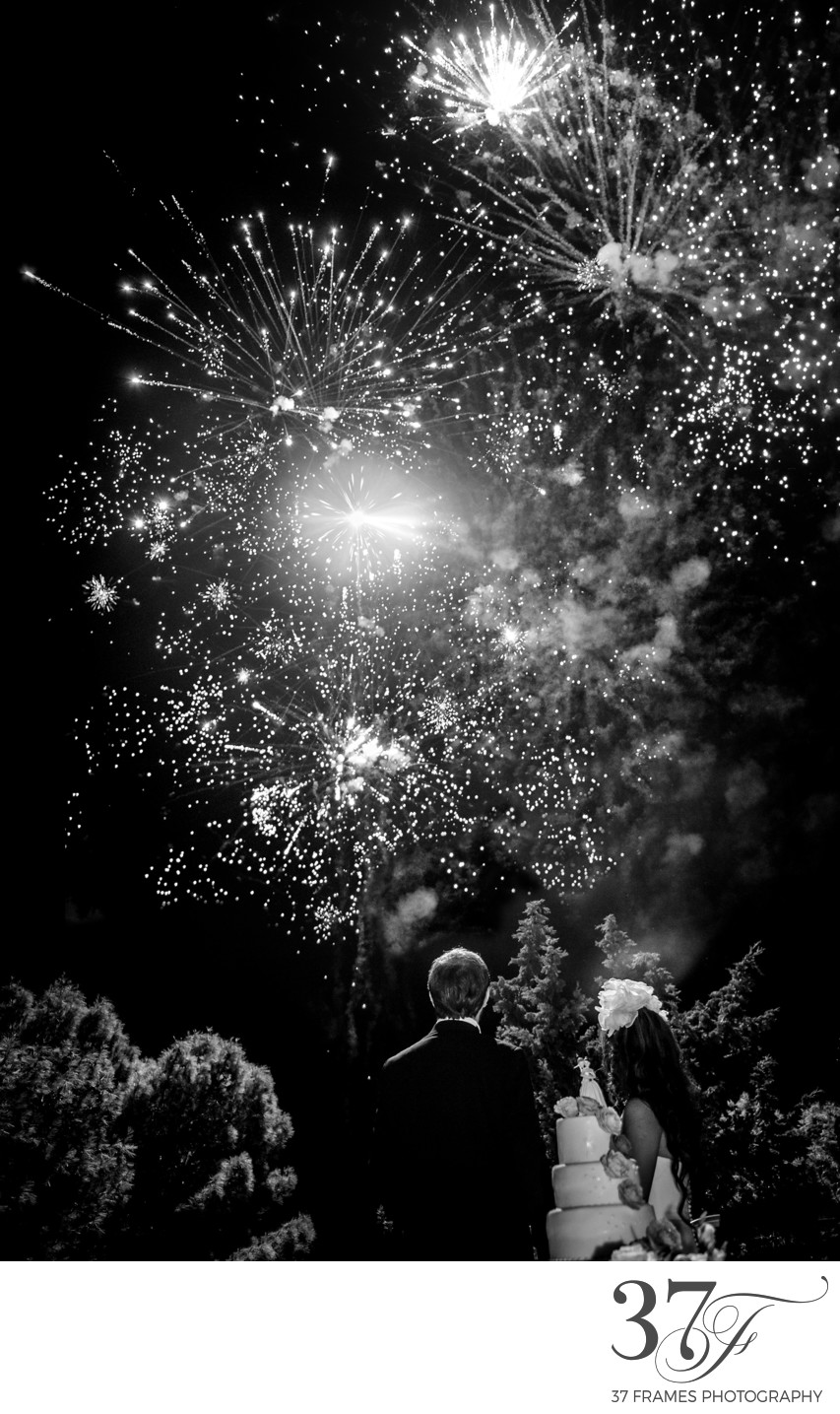 Fireworks at Armani Wedding in Italy