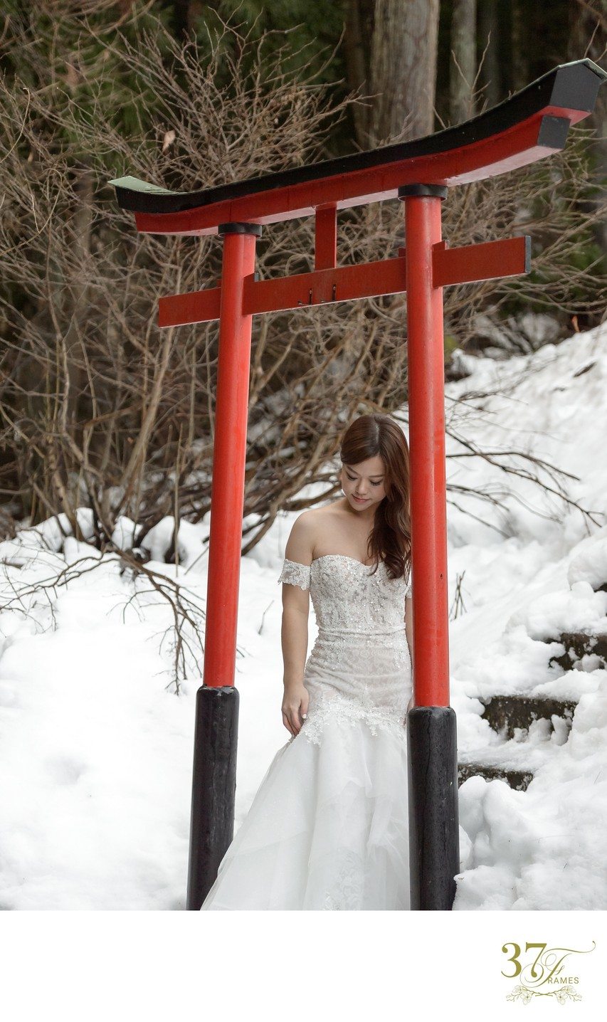 Elope in the Snow in Japan