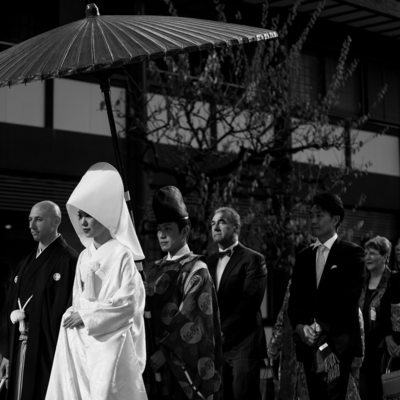 Traditional Japanese Wedding at Shinjuku Kumano Shrine