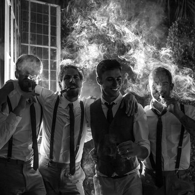 Wedding Traditions - Groomsmen & Cigars