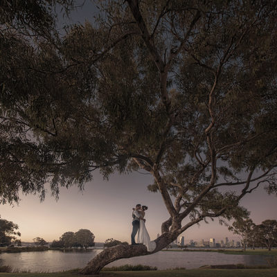 Perth Wedding at Sunset
