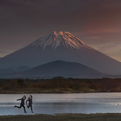 Mt Fuji Engagement Photos