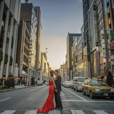 Engagement Photos in Ginza