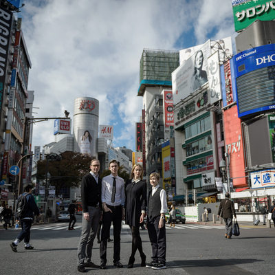 THE MODEL FAMILY ON SHIBUYA CROSSING