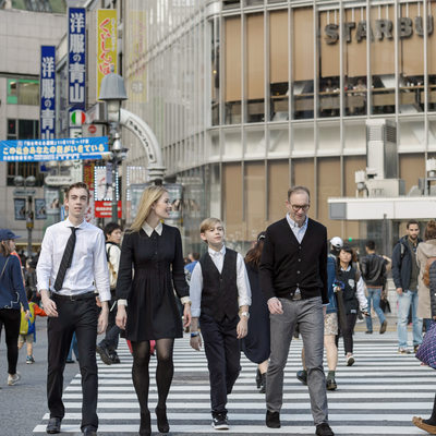 Shibuya Crossing Family Lifestyle Photos