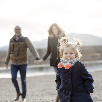 Winter Family shoot by the Mt Fuji Lakes