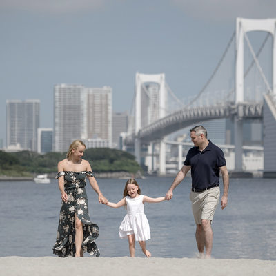 Photographing Families at Odaiba