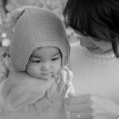 Mother Daughter Baby Photos in Autumn | Tokyo