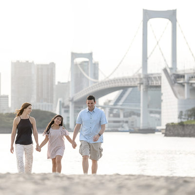 Odaiba Family Portraits at Sunset