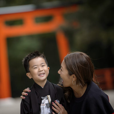 Mother and Son | Shichi Go San in Kyoto
