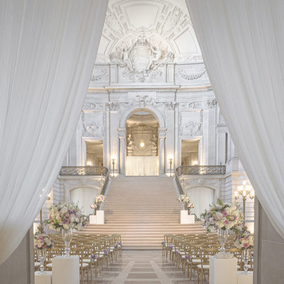 San Francisco City Hall Wedding Decor